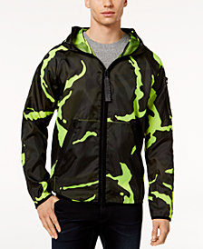 G-Star RAW Men's Strett Neon Camouflage Hooded Jacket