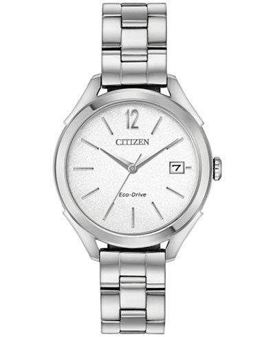 Citizen Drive From Citizen Eco-Drive Women's Stainless Steel Bracelet Watch 34mm