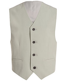 Calvin Klein Stretch Tick Weave Vest, Big Boys