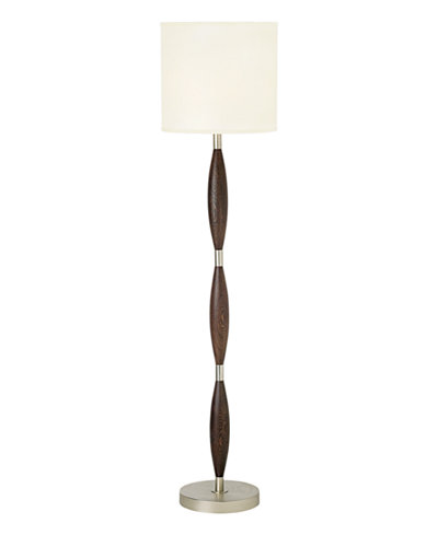 CLOSEOUT! Pacific Coast Brushed Nickel and Chocolate Brown Floor Lamp