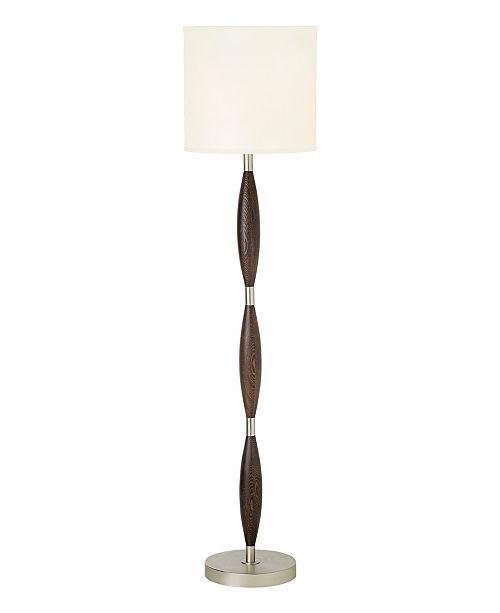 Pacific Coast CLOSEOUT! Brushed Nickel and Chocolate Brown Floor Lamp