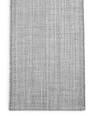 "72"" Gray Woven Cotton Table Runner, Created for Macy's"