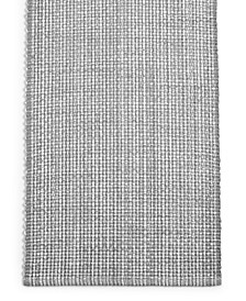 "CLOSEOUT! 72"" Gray Woven Cotton Table Runner, Created for Macy's"
