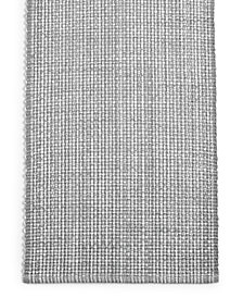 "Martha Stewart Collection 72"" Gray Woven Cotton Table Runner, Created for Macy's"