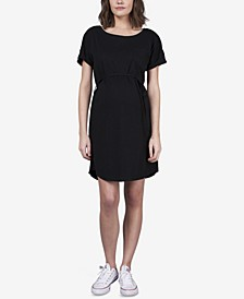 Maternity Snap-Sleeve Nursing Dress