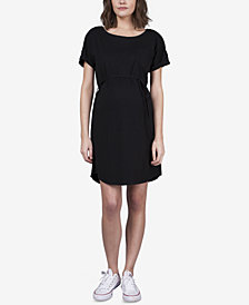 Seraphine Maternity Snap-Sleeve Nursing Dress