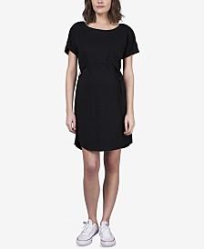 Seraphine Maternity Snap-Sleeve Nursing Dress