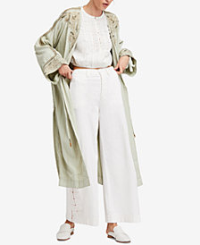 Free People Afterglow Embroidered Kimono