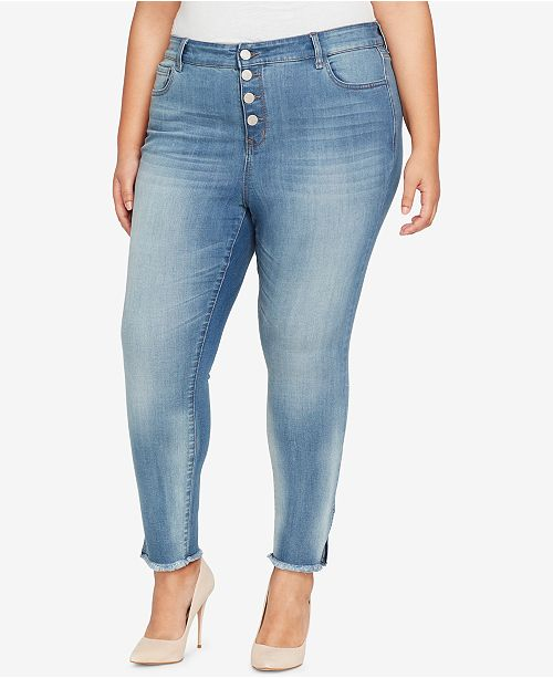 c482c82d6f WILLIAM RAST Trendy Plus Size Button-Fly Skinny Jeans & Reviews ...
