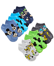 Disney's® Mickey Mouse 6-Pk. Graphic-Print Socks, Little Boys & Big Boys