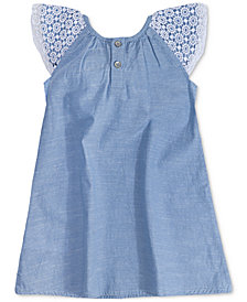 Levi's® Cotton Chambray Ruffle-Sleeve Dress, Little Girls