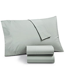 Martha Stewart Essentials Solid 220 Thread Count 4-Pc. Full Sheet Set, Created for Macy's