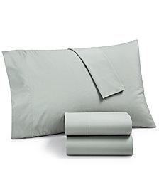 Martha Stewart Essentials Solid 220 Thread Count 4-Pc. Queen Sheet Set, Created for Macy's