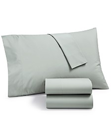 CLOSEOUT! Martha Stewart Essentials Solid 220 Thread Count 4-Pc. King Sheet Set, Created for Macy's