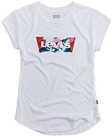 Levi's® Floral-Detail Logo T-Shirt, Little Girls