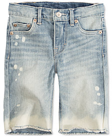 Levi's® Bleached Seaside Bermuda Shorts, Big Girls