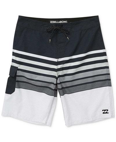 Billabong All Day OG Stripe Swim Trunks, Little Boys