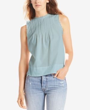 JANIS COTTON PLEATED TOP