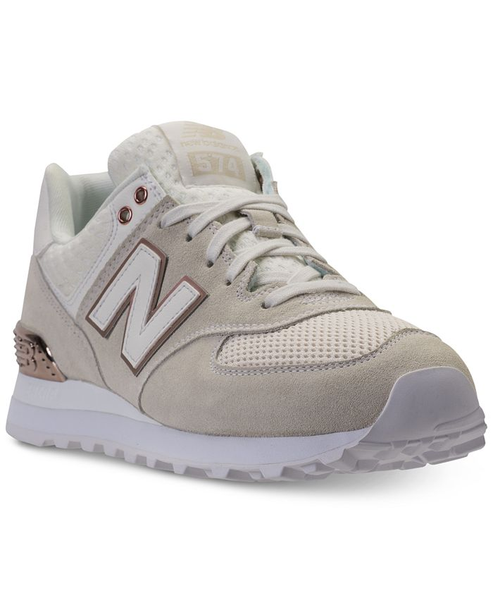 New Balance Women's 574 Rose Gold Casual Sneakers from Finish Line ...