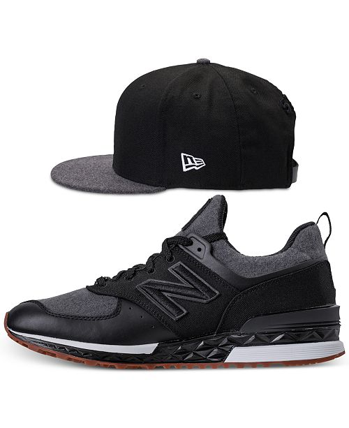 ... New Balance Men s 574 Sport x New Era 9Fifty Hat and Casual Sneakers  Set from Finish ... 24b5c1bacd9