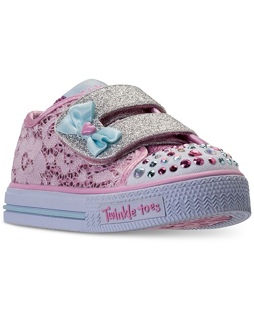 e3a208c37134 ... Skechers Toddler Girls  Twinkle Toes  Shuffles - Sweet Stepper Light-Up  Casual Sneakers ...