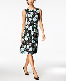 Charter Club Printed Fit Flare Dress Created For Macys