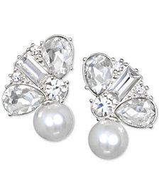 Jewel Badgley Mischka Crystal & Imitation Pearl Stud Earrings