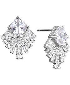 Jewel Badgley Mischka Square Crystal Fan Drop Earrings