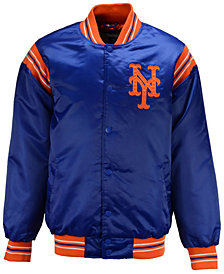 G-III Sports Men's New York Mets Starter Legacy Satin Jacket