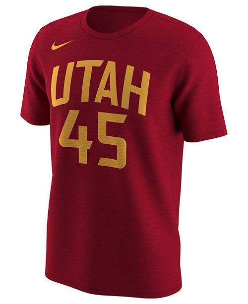 Nike Men s Donovan Mitchell Utah Jazz City Player T-Shirt - Sports ... 15b34b168