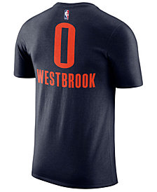 Nike Russell Westbrook Oklahoma City Thunder Statement Name and Number T-Shirt, Big Boys (8-20)