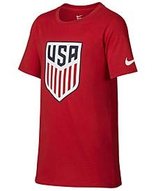 USA National Team Crest T-Shirt, Big Boys (8-20)