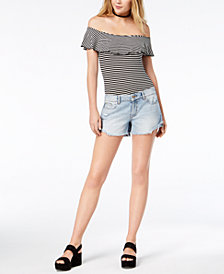 DL 1961 Karlie Ripped Boyfriend Cutoff Shorts