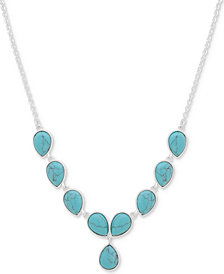 "Nine West Colored Stone Y Necklace, 16"" + 2"" extender"