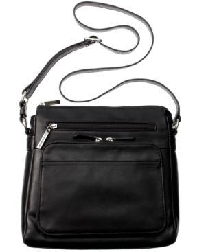 GIANI BERNINI   Giani Bernini Nappa Leather Front Zip Crossbody, Created For Macy'S   Goxip