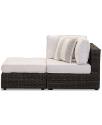 Viewport Outdoor 2-Pc. Modular Seating Set (1 Corner Unit and 1 Ottoman) with Sunbrella® Cushions, Created for Macy's
