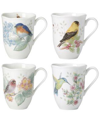 Butterfly Meadow Flutter Mugs, Set of 4