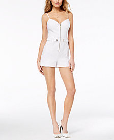 GUESS Jocelyn Adjustable Front-Zip Romper