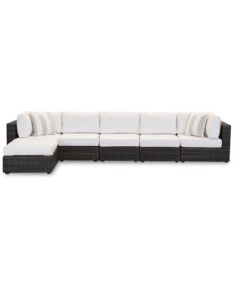 Viewport Outdoor 6-Pc. Modular Seating Set (2 Corner Units, 3 Armless Units and 1 Ottoman), Created for Macy's