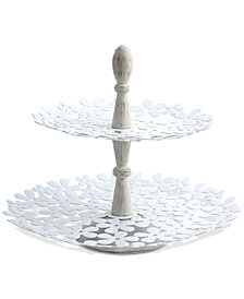 CLOSEOUT! Thirstystone Metal Flower 2-Tier Server