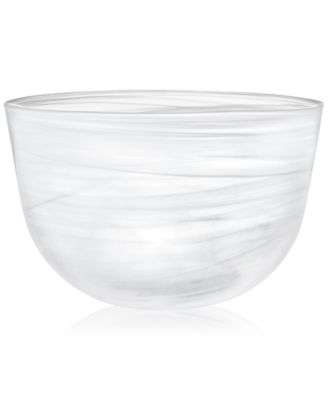 CLOSEOUT! Swirl Glass Oversized Bowl, Created for Macy's