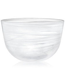CLOSEOUT! Martha Stewart Collection Swirl Glass Oversized Bowl, Created for Macy's