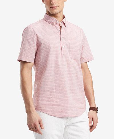 Tommy Hilfiger Men's Graham Stripe Popover Pocket Shirt, Created for Macy's