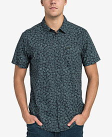 RVCA Men's Cleta Stipple Floral Pocket Shirt