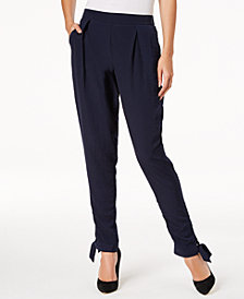 NY Collection Petite Split-Cuff Pull-On Pants