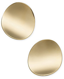 kate spade new york Gold-Tone Curved Disc Stud Earrings