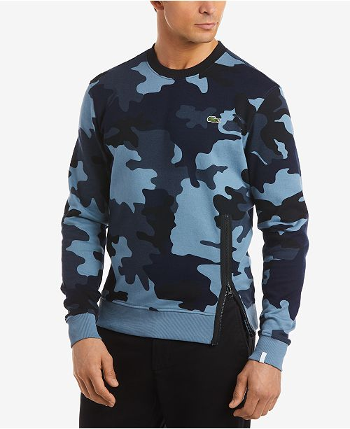 ca9c7242ce07 Lacoste LIVE Men s Camouflage-Print Fleece Sweatshirt   Reviews ...