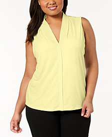 Calvin Klein Plus Size V-Neck Shell