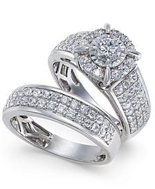 Diamond Pavé Bridal Set (1-1/2 ct. t.w.) in 14k White Gold