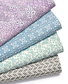 CLOSEOUT! Printed Microfiber 4-Pc. Sheet Sets, Created for Macy's